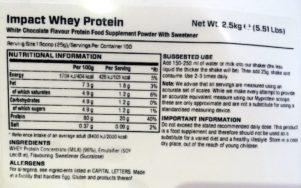 MyProtein Impact Whey Inhaltsstoffe 301x188 - MyProtein Impact Whey – Das #1 Molkeprotein in Europa?