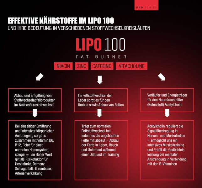 Lipo 100 Farburner - Lipo 100 Erfahrungen - Unser Test zum beliebten Fatburner