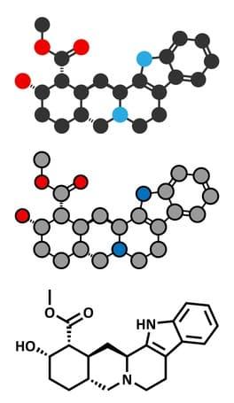 Yohimbin alkaloid molekühl - Yohimbin - Yohimbin HCL - Yohimbe - alle Fakten zum Fatburner