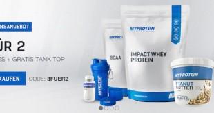 Myprotein 3 Produkte für 2