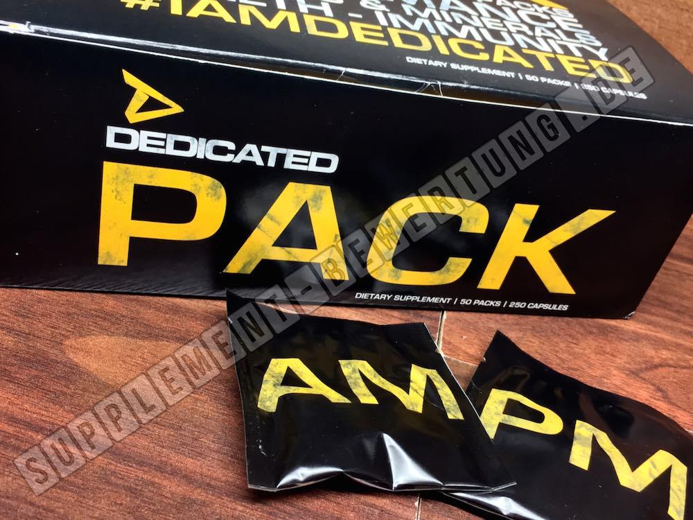Dedicated Pack AM PM - Dedicated Pack - Der Vitamin und Minerailien Komplex im Test