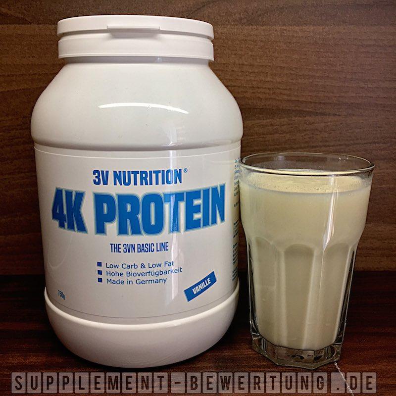 4K PROTEIN Review - 4K PROTEIN - 3V Nutrition - Das vier Komponenten Protein im Test