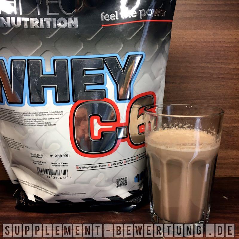 Whey C6 Löslichkeit - Whey C6 - HI Tec Nutrition - Das Whey Protein im Test