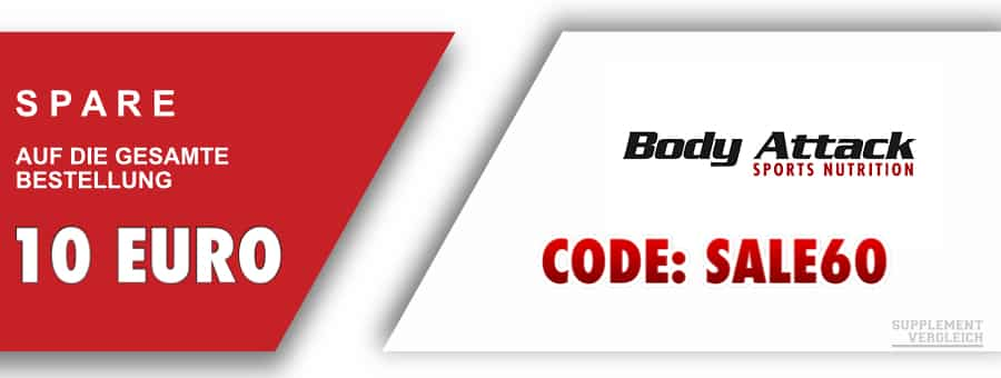 Coupon Body Attack 10 Euro 1 - SUPPLEMENT DEALZ - KW 44