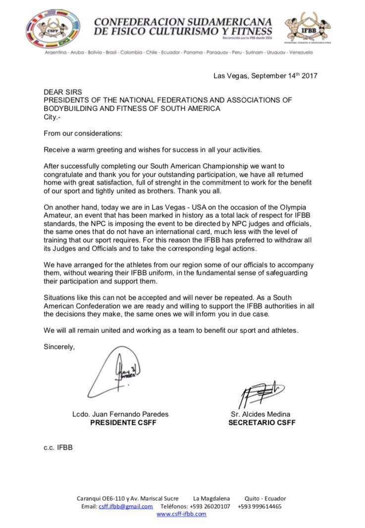 Trennung von IFBB und NPC