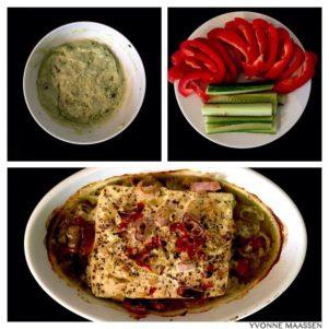 Avocado Dip mit Ofenfeta und Gemüsesticks 301x301 - Gemüsesticks mit Avocado-Dip und Ofenfeta