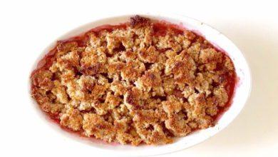 Erdbeer Rhababer Crumble 390x220 - Erdbeer Rhabarber Crumble