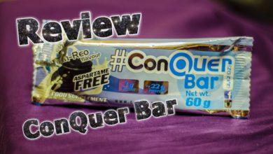 ConQuer Bar Review 390x220 - ConQuer Bar - Ohh Reo und Power Brownie im Test