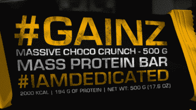 Dedicated GAINZ Protein Bar 390x220 - Dedicated GAINZ Protein Bar - 194 Gramm Protein