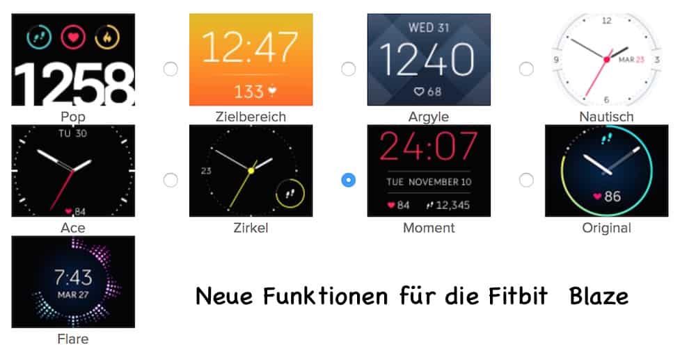 Fitbit Blaze neue Designs 1 - Fitbit Whatsapp Benachrichtigungen jetzt möglich