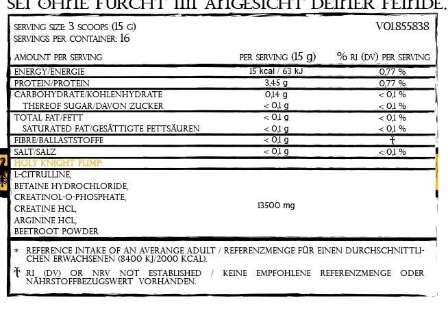Gods Rage Teutonic Inhaltsstoffe - Gods Rage neue Booster - Templar und Teutonic die neuen Workoutbooster