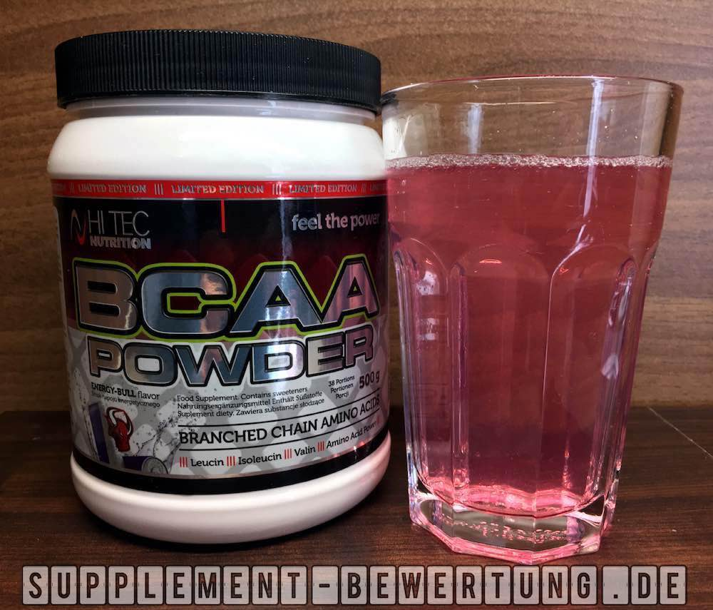 BCAA Powder Hi Tec Nutrition Löslichkeit - BCAA Powder - Hi Tec Nutrition im Test
