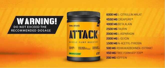 ATTACK 2 Inhaltsstoffe Body Attack  - ATTACK 2 - Der Workout Booster von Body Attack im Test