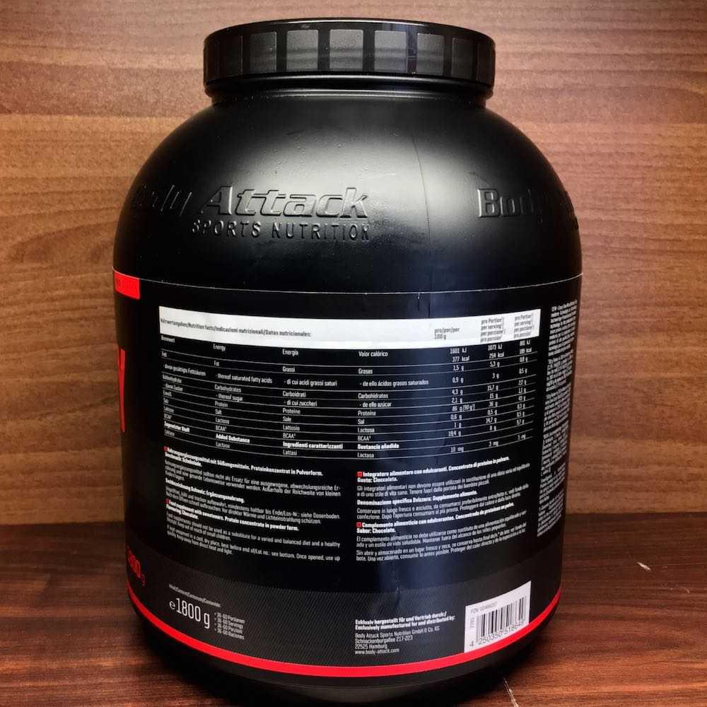 Extreme ISO Whey Inhaltsstoffe - Extreme ISO Whey Protein von Body Attack im Test