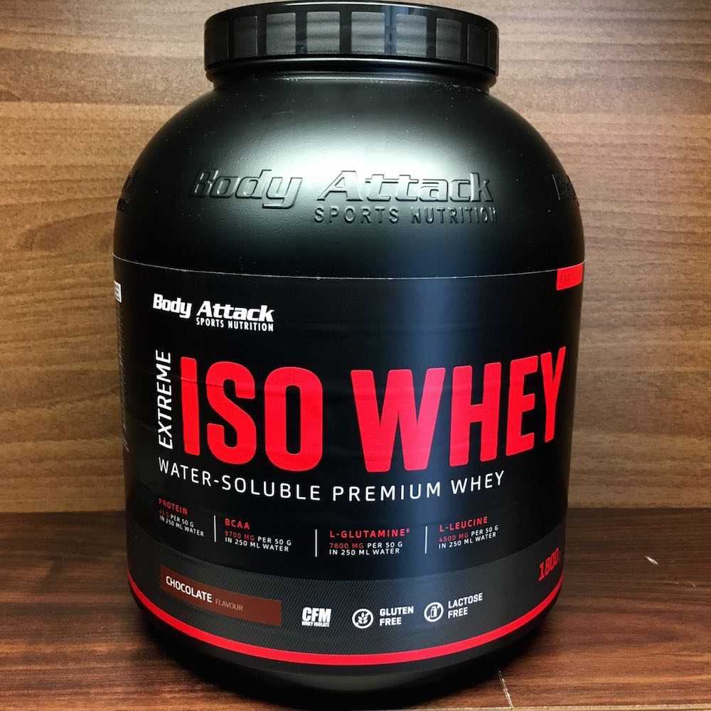 Extreme ISO Whey Verpackung