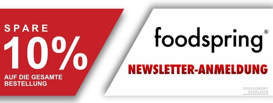Coupon foodspring Newsletter - SUPPLEMENT DEALZ - KW 42