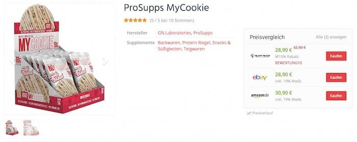 Prosupps Mycookie günstig kaufen - Prosupps Mycookie Test - Unser Review zum berühmten Cookie