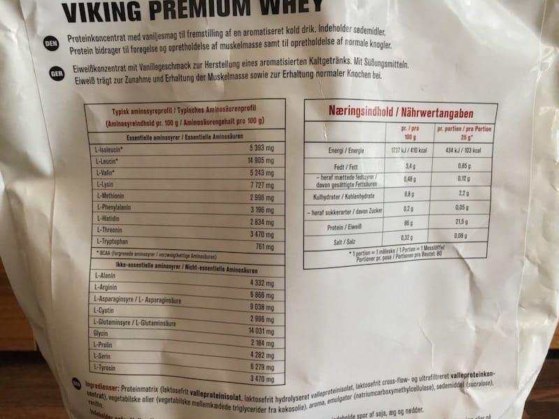 Viking Premium Whey Protein Inhaltsstoffe - Viking Premium Whey Protein von Viking Nutrition im Test