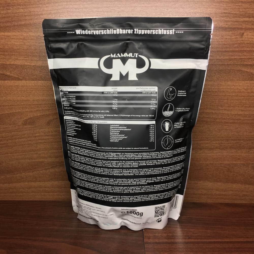 Mammut Whey Protein Erfahrungen