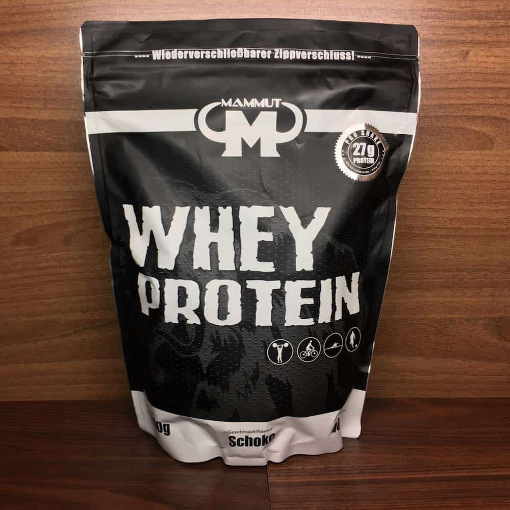 Mammut Whey Protein Verpackung