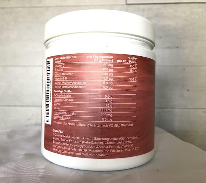 Citrullin Plus Inhaltsstoffe - Citrullin Plus von Edubily - Unsere Erfahrungen und Test
