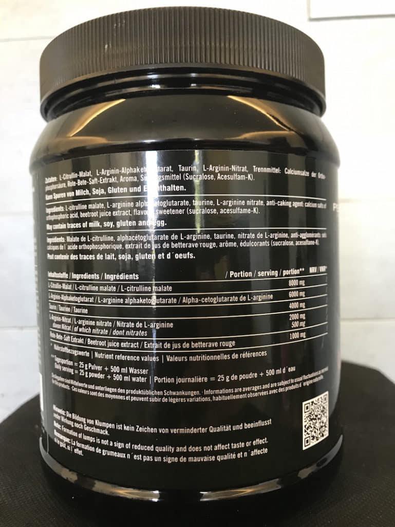 Epic Pump Inhaltsstoffe