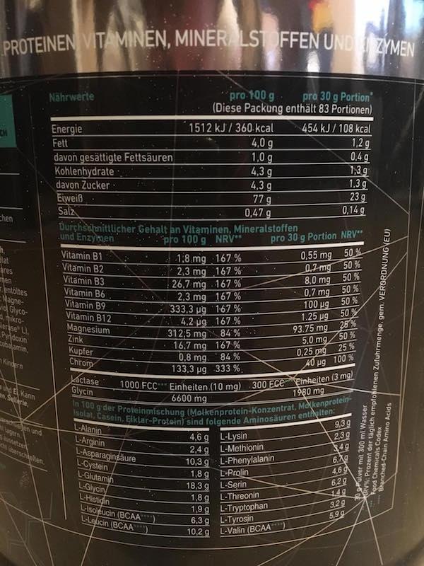 PowerTec Pro80 Vit+Inhaltsstoffe