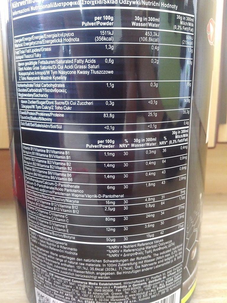 ALL STARS Isotech 94 Zutaten