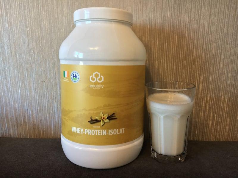 Das Edubily Whey Protein Isolat Vanille Geschmack