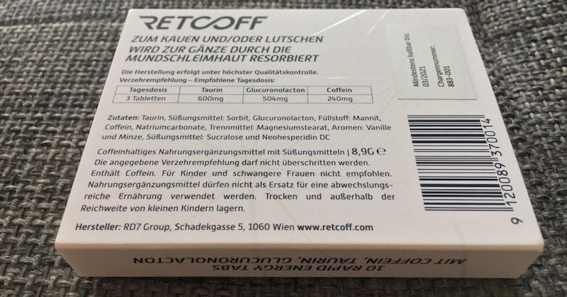 Retcoff Inhaltsstoffe