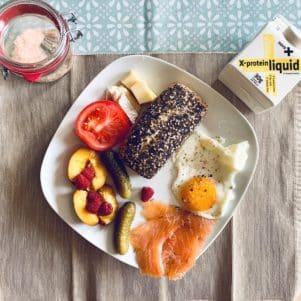 NovoX Protein Liquid zur Aufwertung einer Mahlzeit