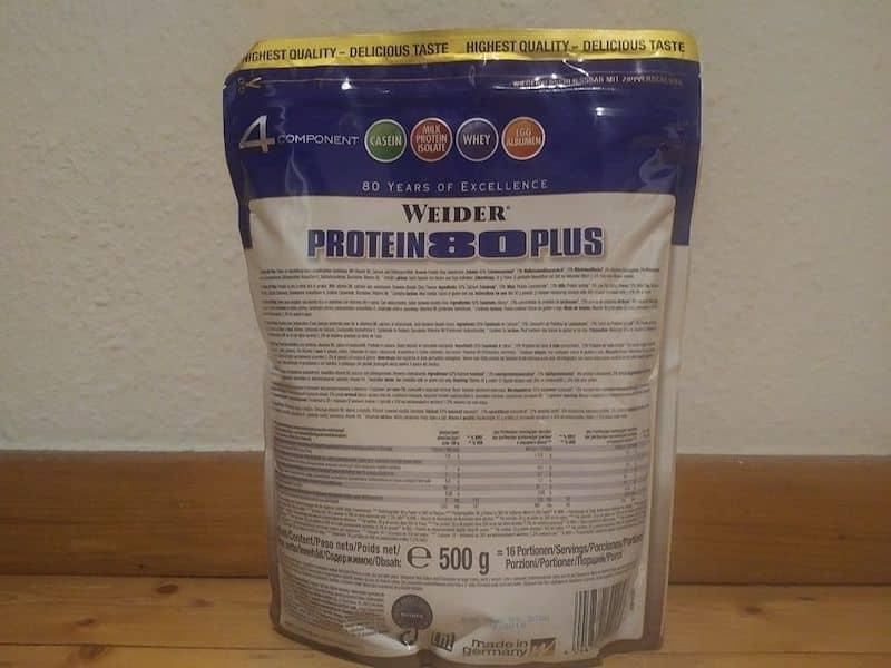 Die Inhaltsstoffe vom Weider Protein 80 Plus