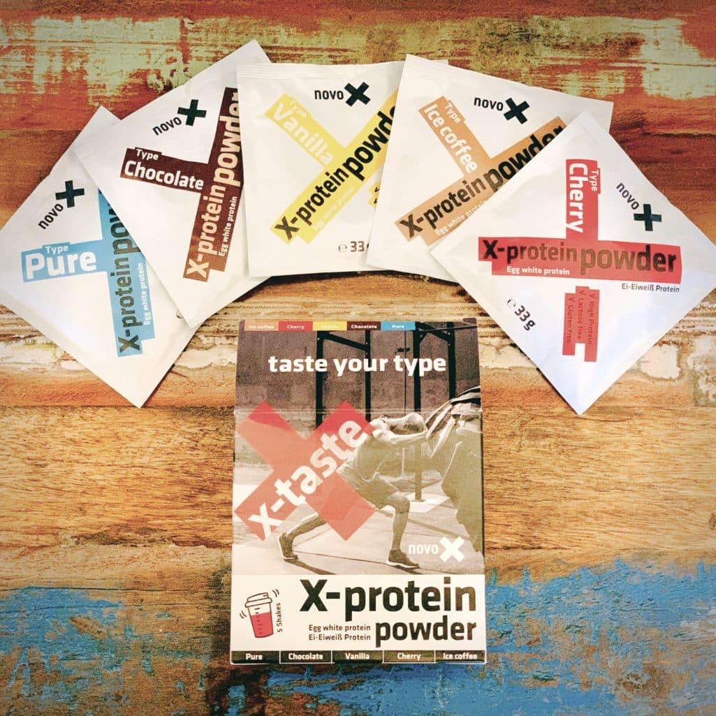 NOVO-X Powder, die getesteten Verpackungen in der Übersicht