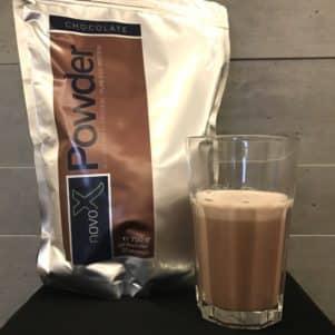 NOVO-X Powder in Schoko mit leckerem Kakao Geschmack