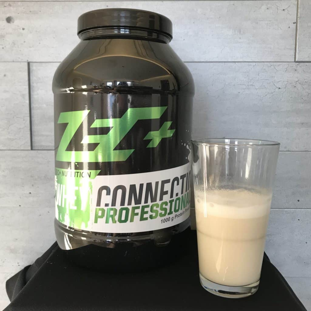 Geschmackstest des Whey Connection Professional in Milch