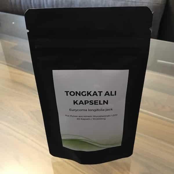 Tongkat-Ali Kapseln Verpackung