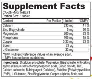 Zutaten Mineralstoff Tablette