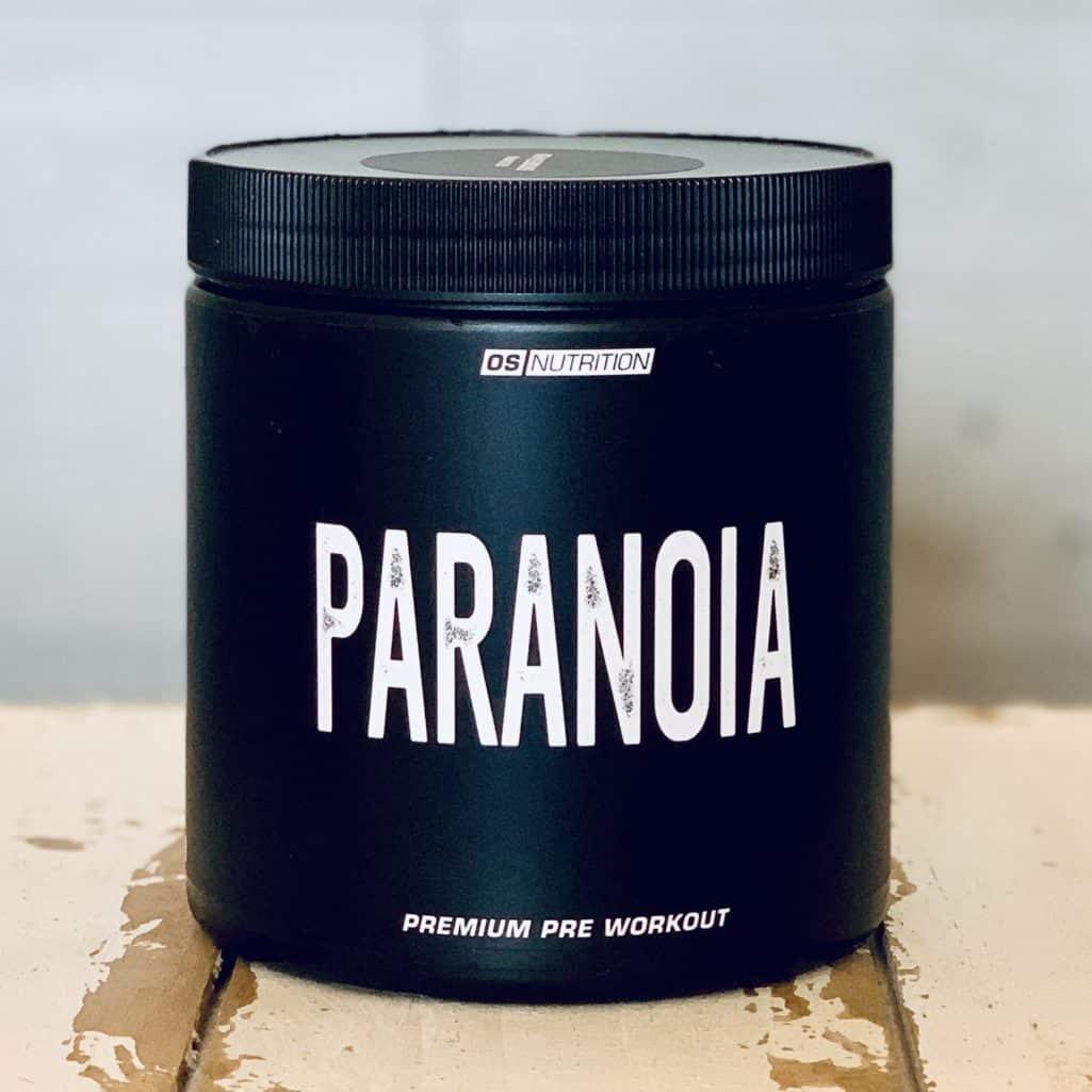 Frontansicht der Dose des Pre Workout Boosters Paranoia