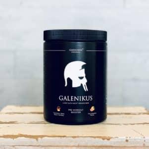 Schlichtes, hochwertiges Design der Galenikus Pre-Workout Booster Verpackung