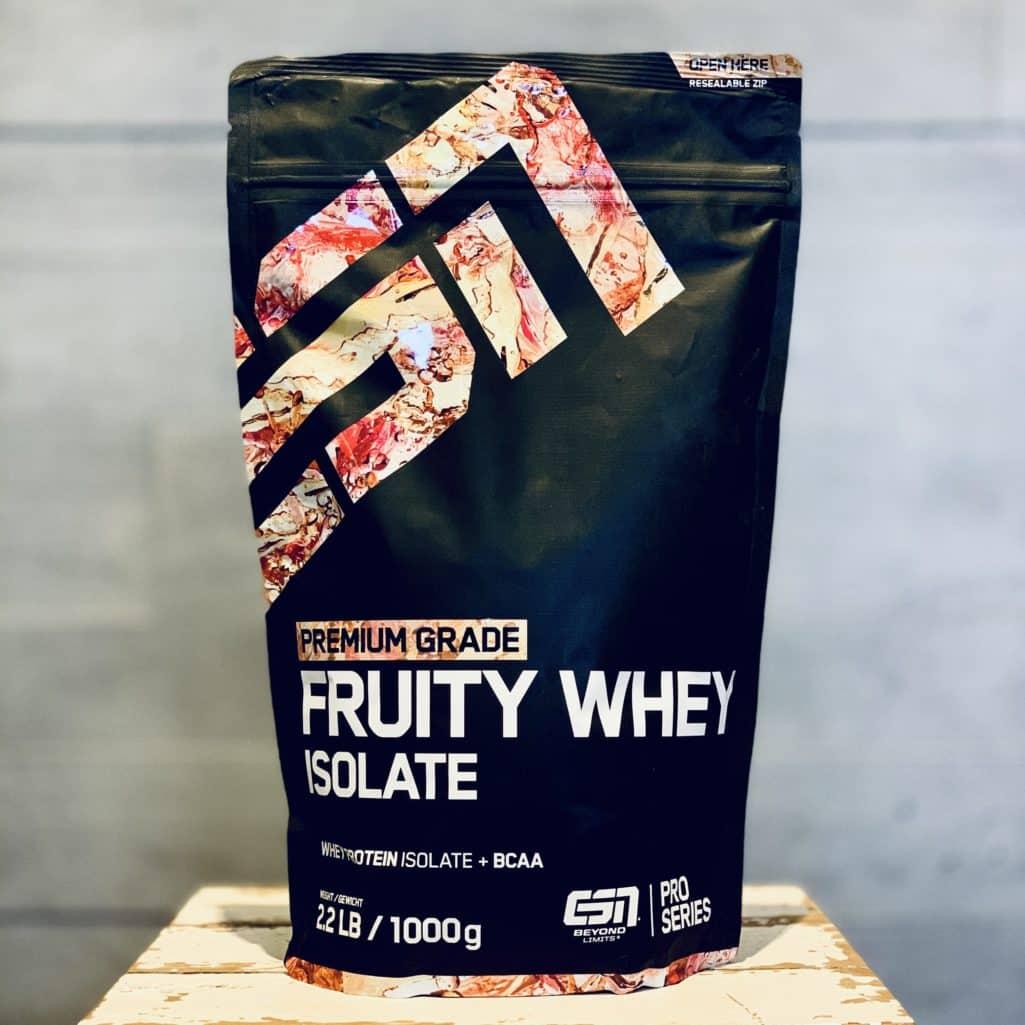 Die Verpackung des ESN Fruity Whey