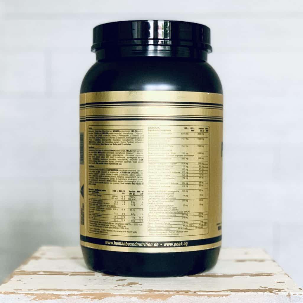 HBN Post Workout Complex Etikett Zutaten und Inhaltsstoffe