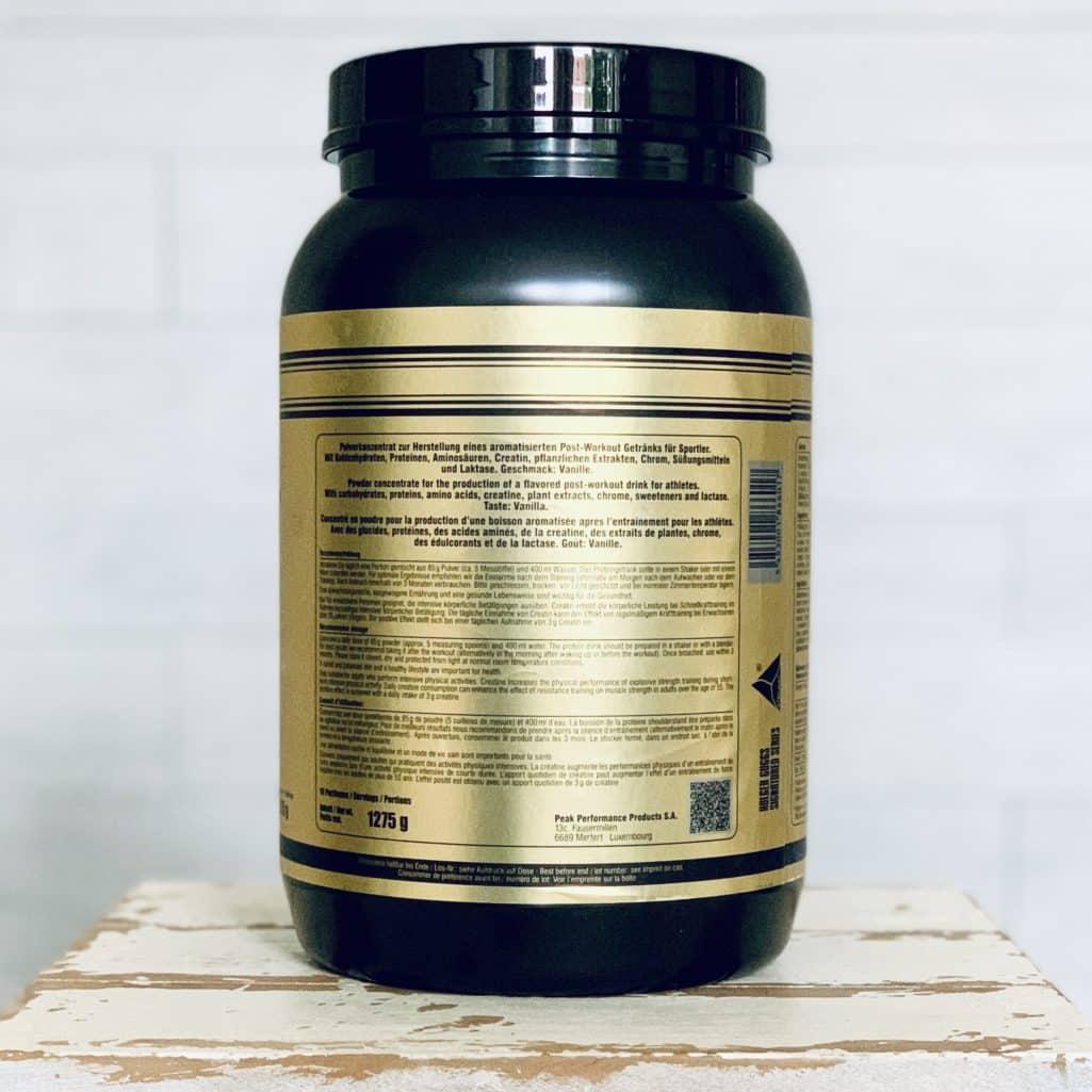 HBN Post Workout Complex Etikett Verzehrempfehlung