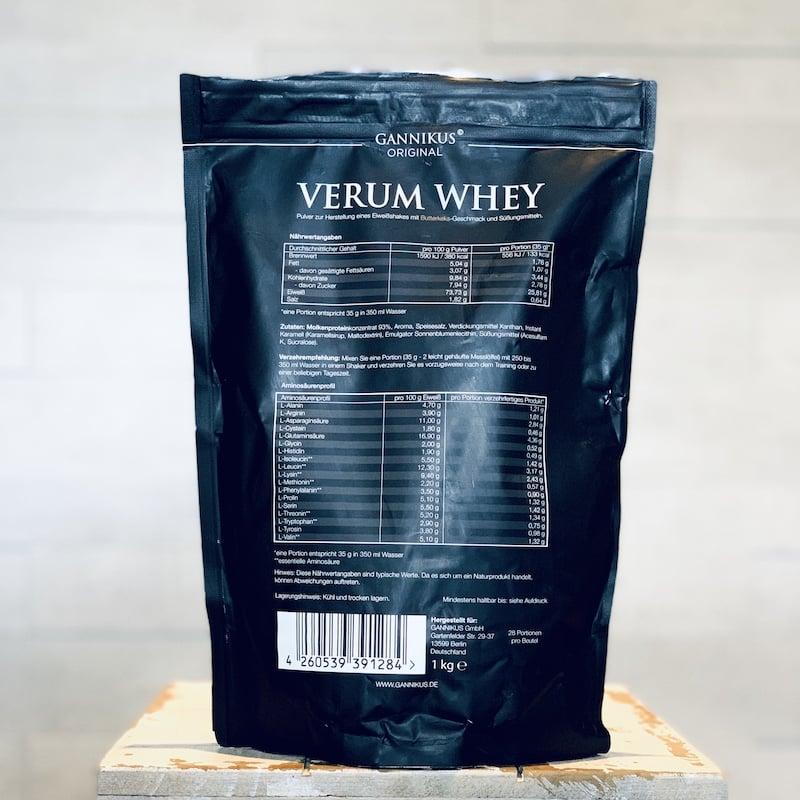 Gannikus-Verum-Whey-Butterkeks-Nährwerte