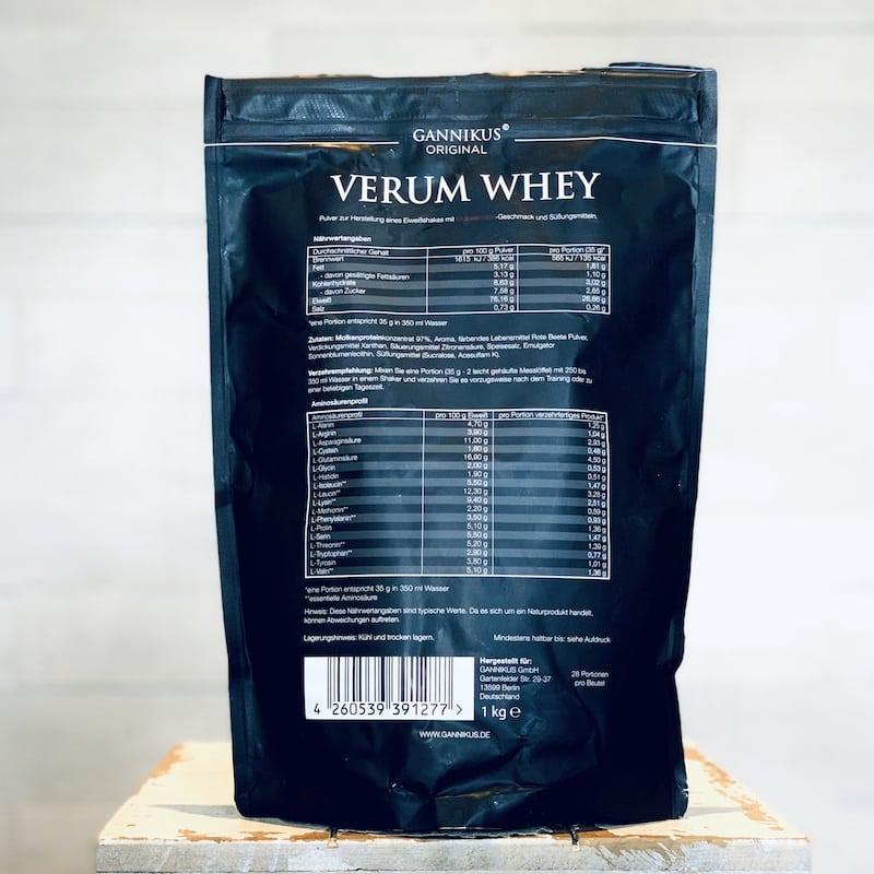 Gannikus-Verum-Whey-Erdbeermilch-Nährwerte