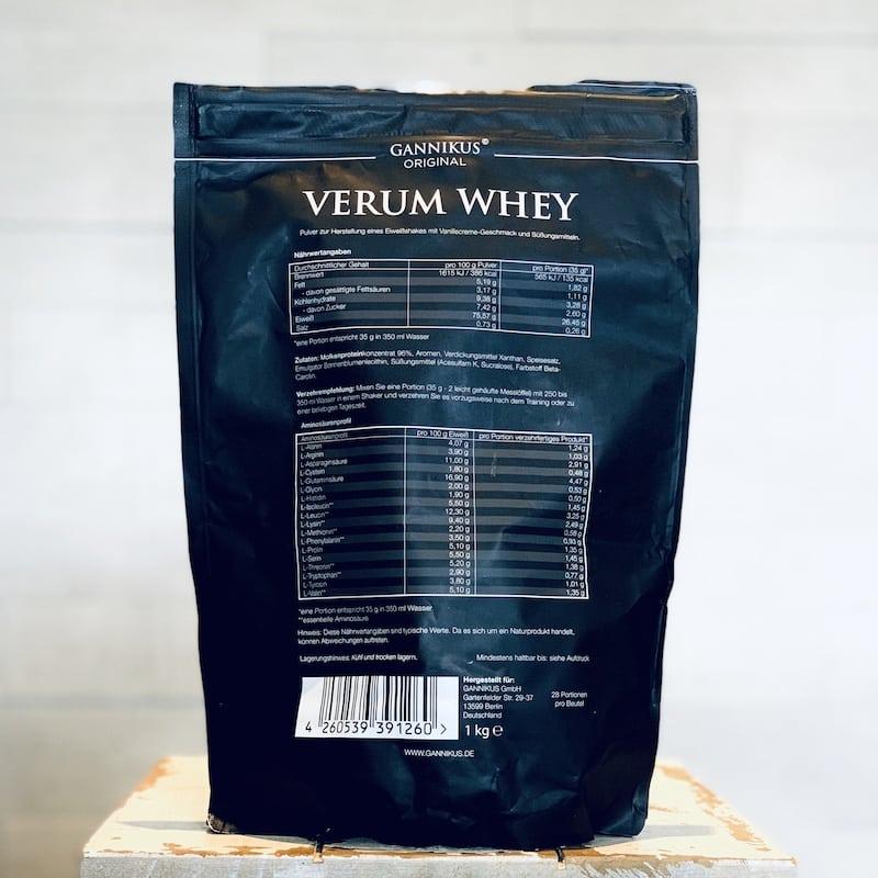 Gannikus-Verum-Whey-Vanille-Nährwerte